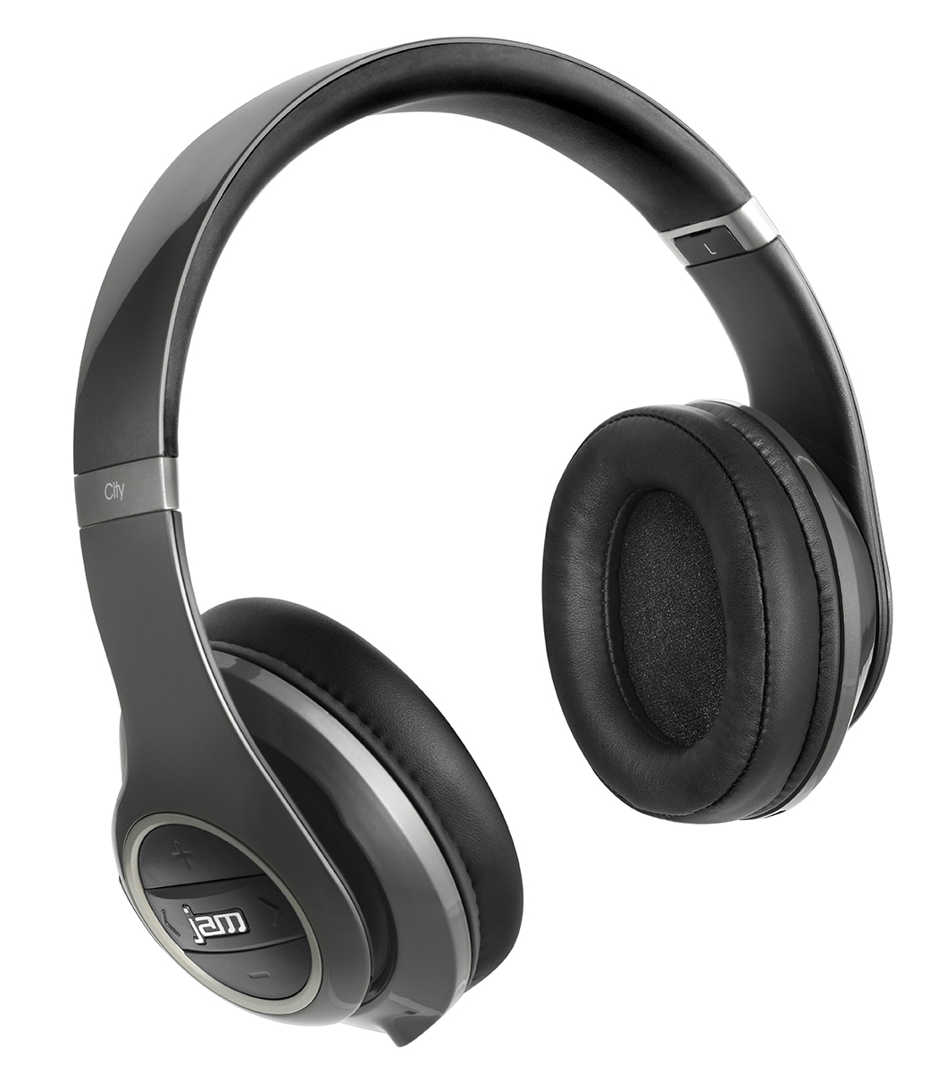 jam transit city over ear wireless bluetooth headphones noise cancelling grey ebay. Black Bedroom Furniture Sets. Home Design Ideas
