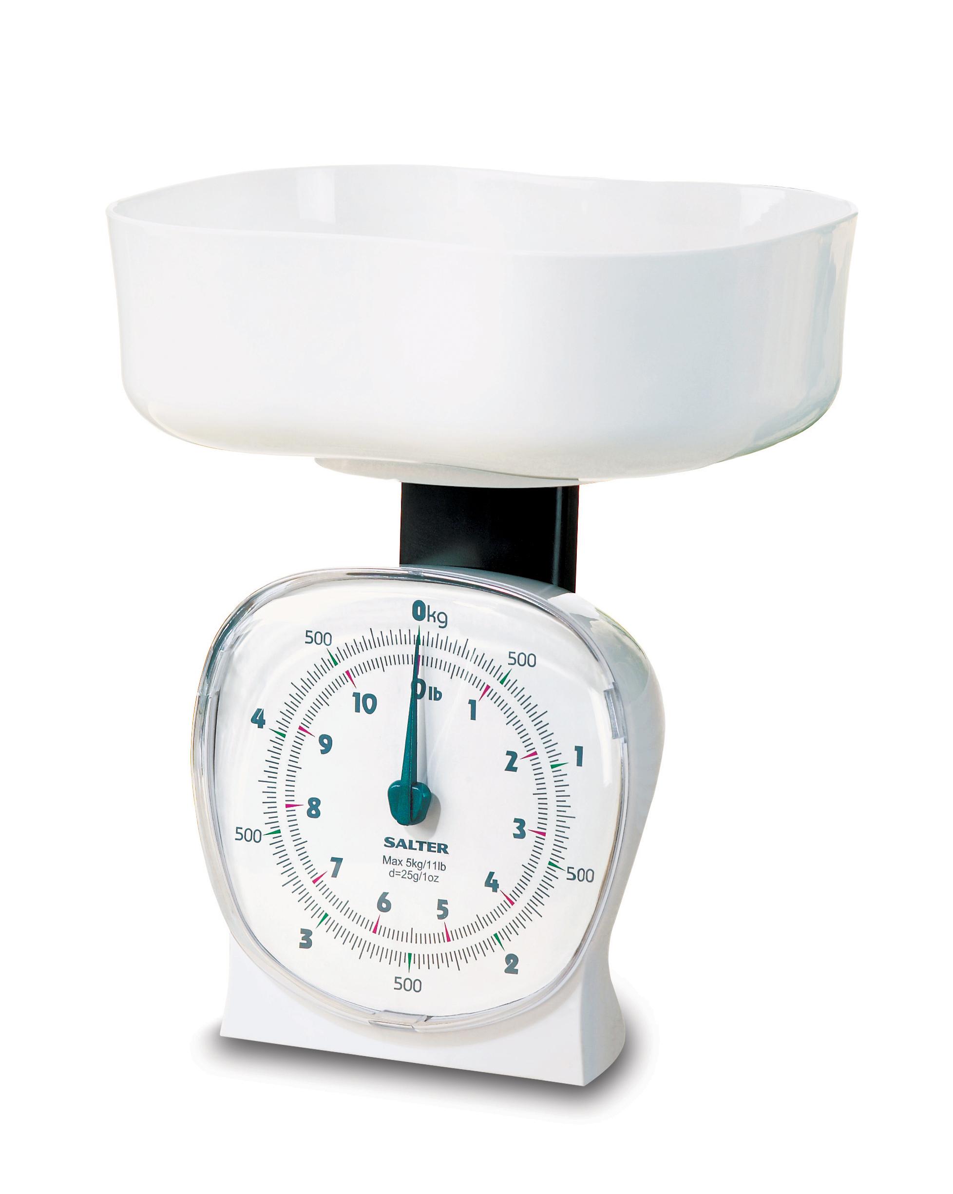 salter 5kg retro mechanical kitchen scale white 15yr. Black Bedroom Furniture Sets. Home Design Ideas