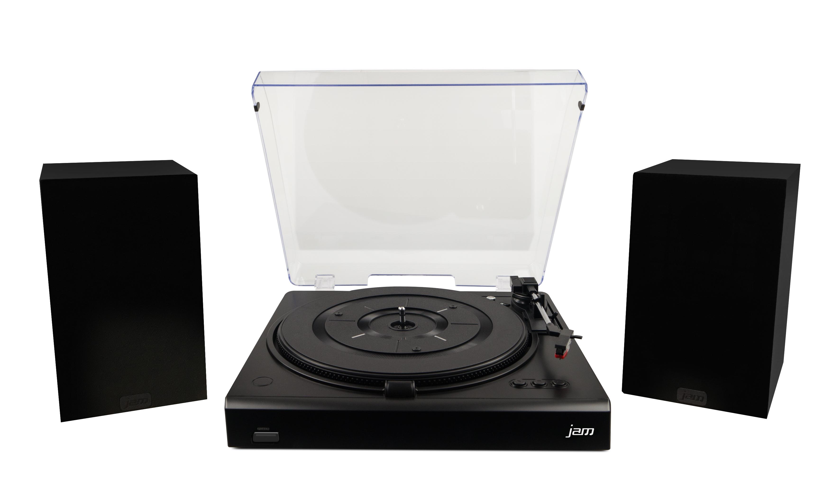 Jam Turntable Amp 32w Stereo Speaker Bundle 3 Speed Record