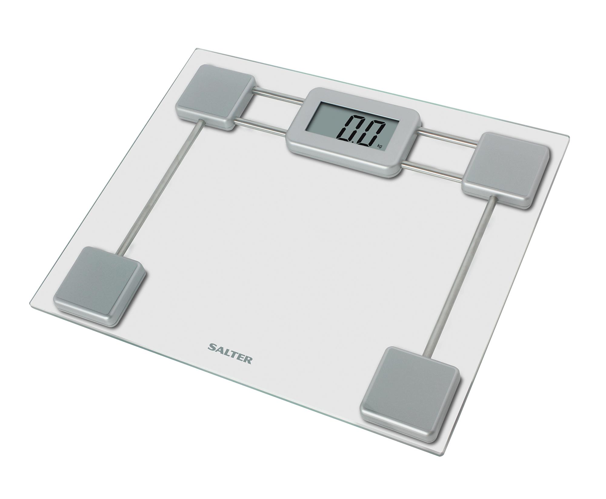 Salter Compact Platform Electronic Digital Bathroom Scale Glass 9081 SV3R