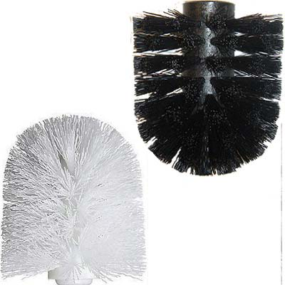 showerdrape replacement toilet brush head white black ebay. Black Bedroom Furniture Sets. Home Design Ideas