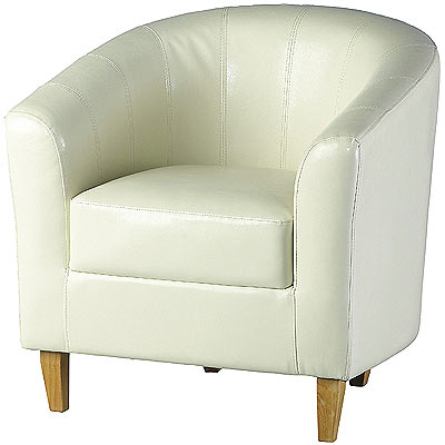 Tempo Tub Chair Cream Tub Chairs Faux Leather Armchair Free Delivery Brand Ne