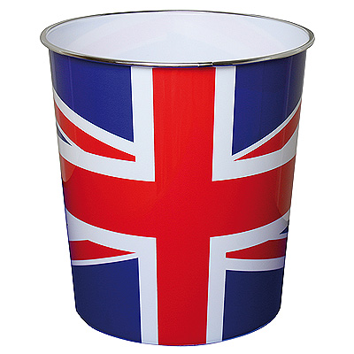 JVL Union Jack Plastic Waste Paper Bin Enlarged Preview