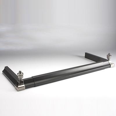 Inglenook Adjustable Black Fire Fender With Chrome Ends
