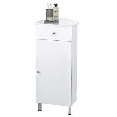 showerdrape rimini white wood floor standing bathroom corner cabinet