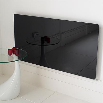 Adam Black Glass Vitreo Radiator Cover, Medium Enlarged Preview