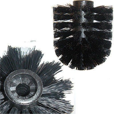 Showerdrape Replacement Toilet Brush Head White Black Ebay