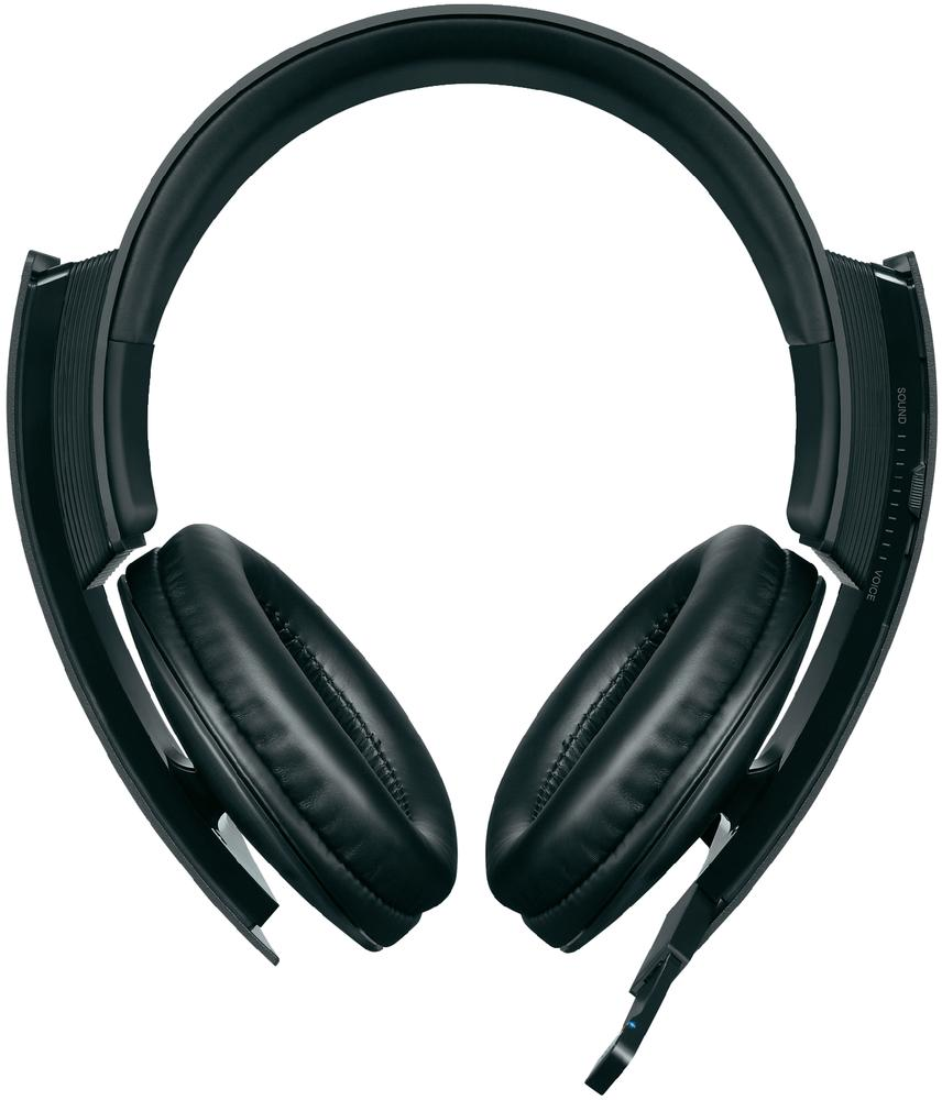 new sony wireless stereo overhead gaming headset 7 1. Black Bedroom Furniture Sets. Home Design Ideas