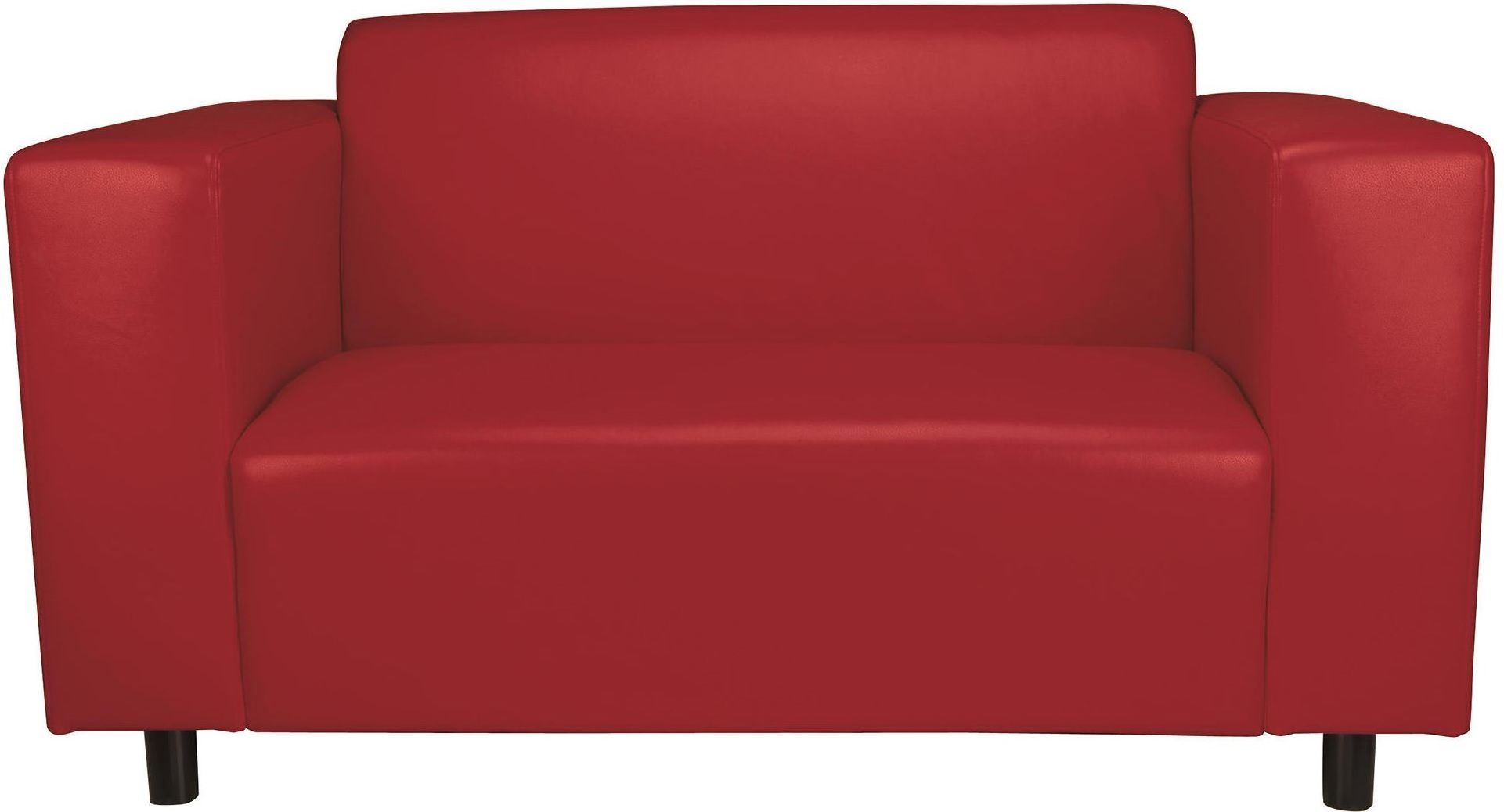 New stanza small 2 seater faux leather sofa with fixed for Faux leather what does it mean
