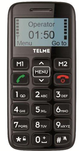 Telme C140 Mobile Phone Black - SOS Button Big Buttons - Unlocked