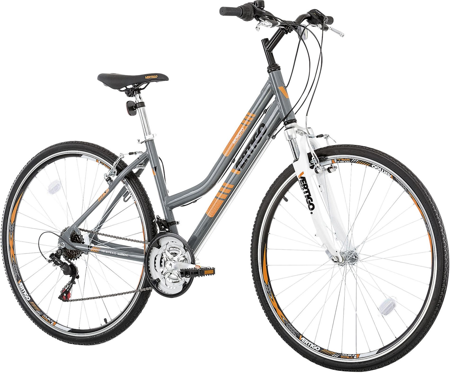 new vertigo moroto ladies front suspension hybrid bike 18 speed 700c 17 28 ebay. Black Bedroom Furniture Sets. Home Design Ideas