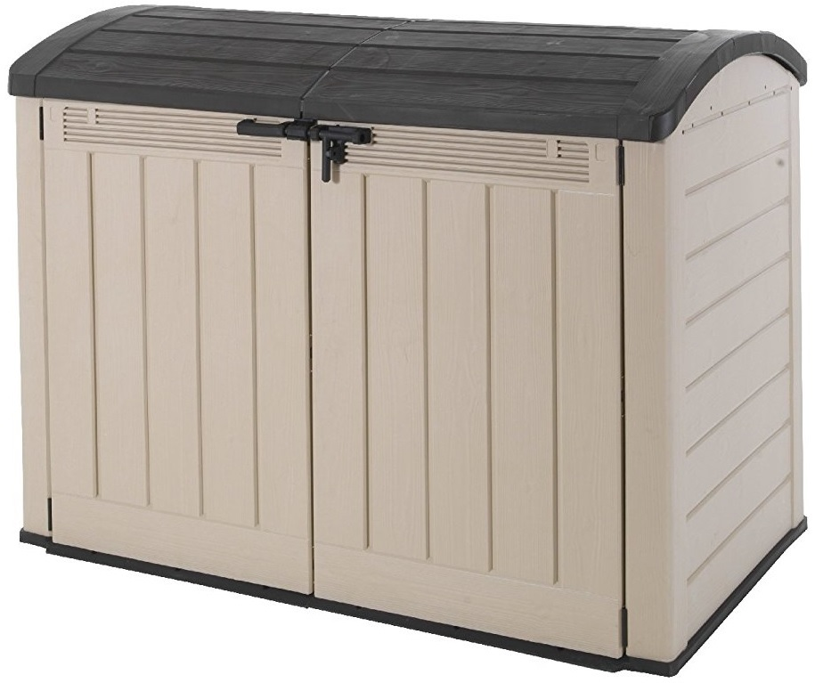 New keter store it out ultra resin outdoor garden storage - Brown plastic garden sheds ...