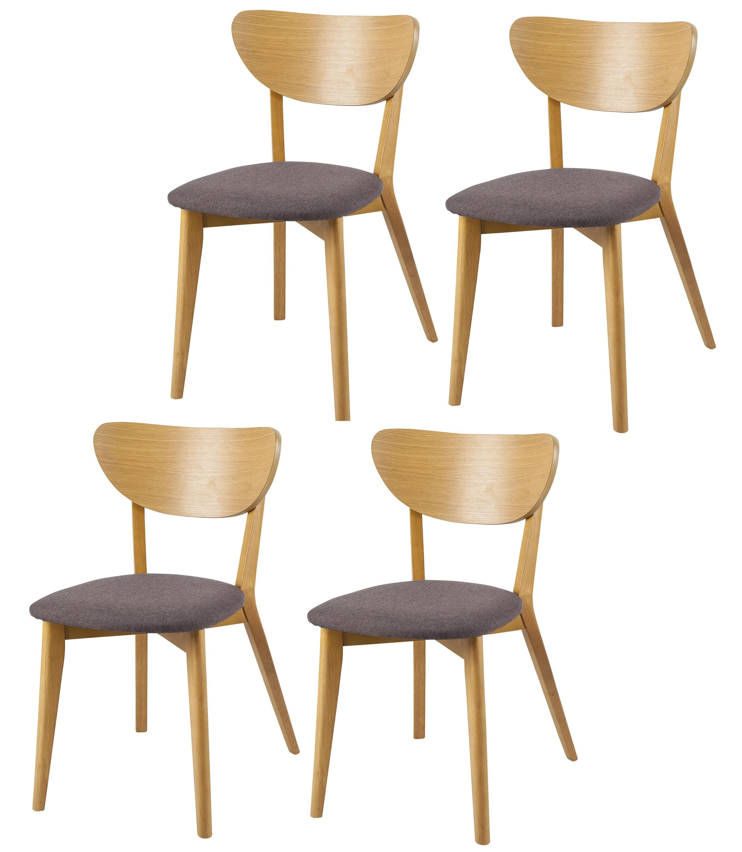 Retro Dining Room Chairs: NEW Stockholm Retro Style Set Of 4 Upholstered Dining
