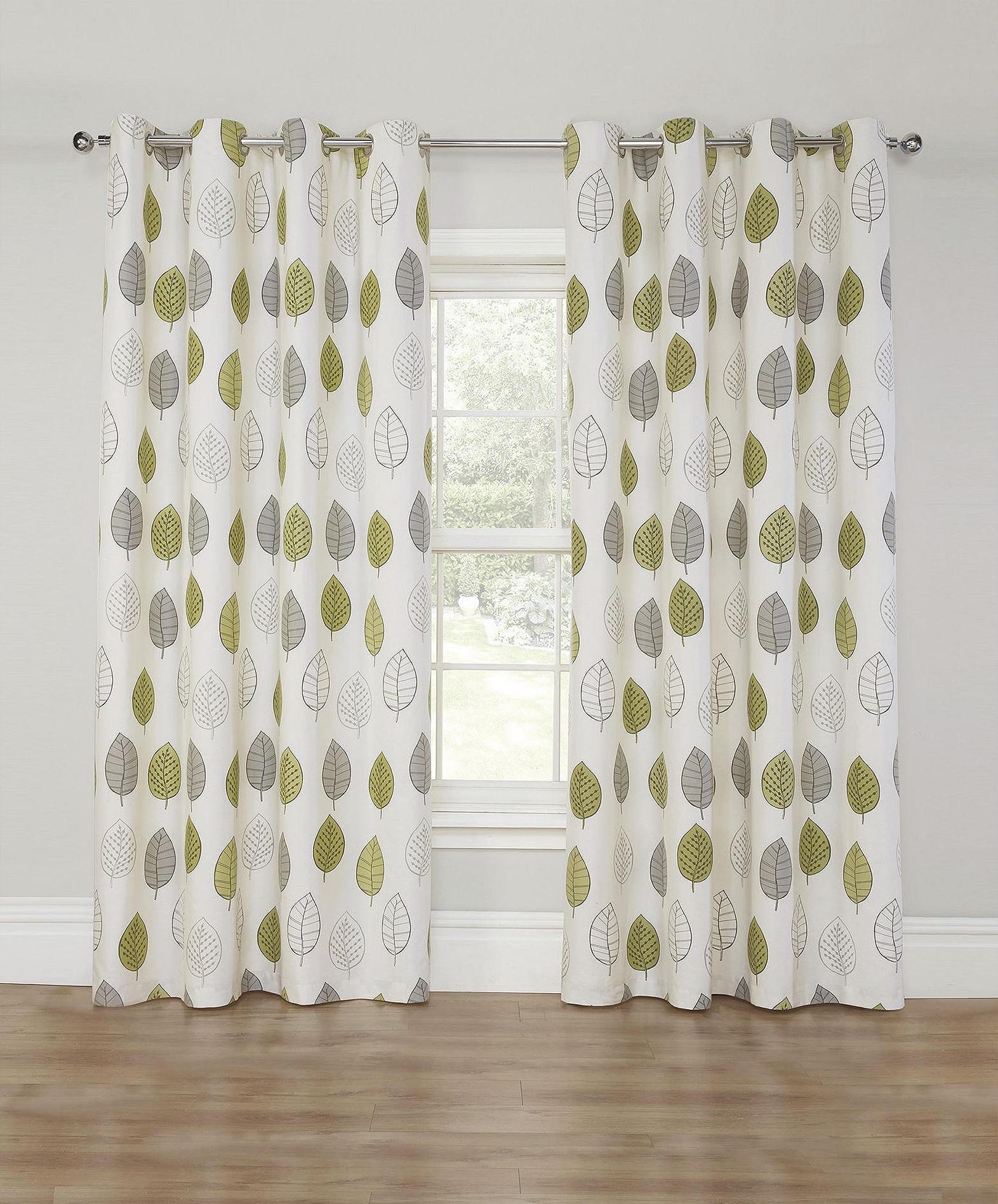 Leaf print curtains
