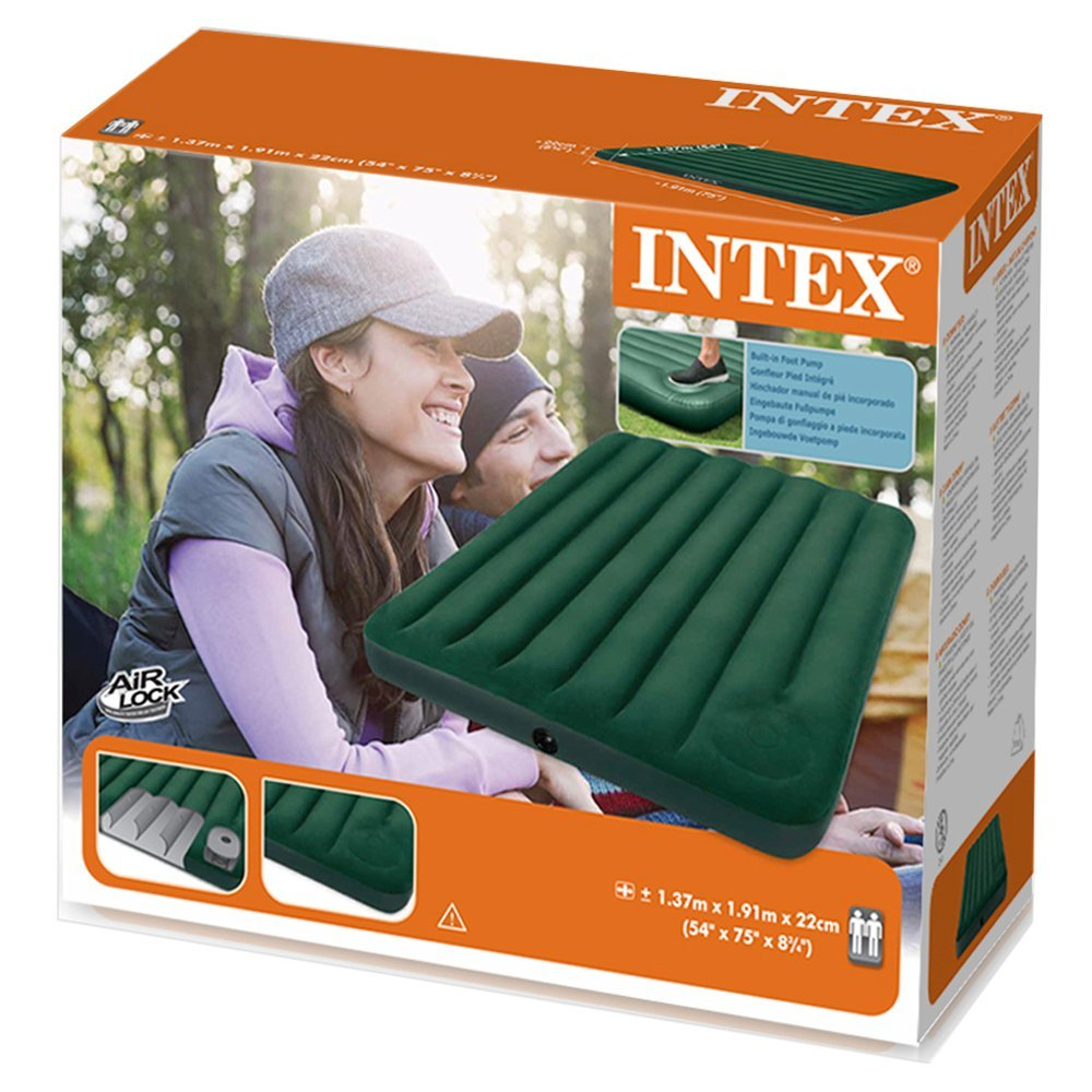 NEW Intex Full Downy Double Air Bed with Built-in Foot ...