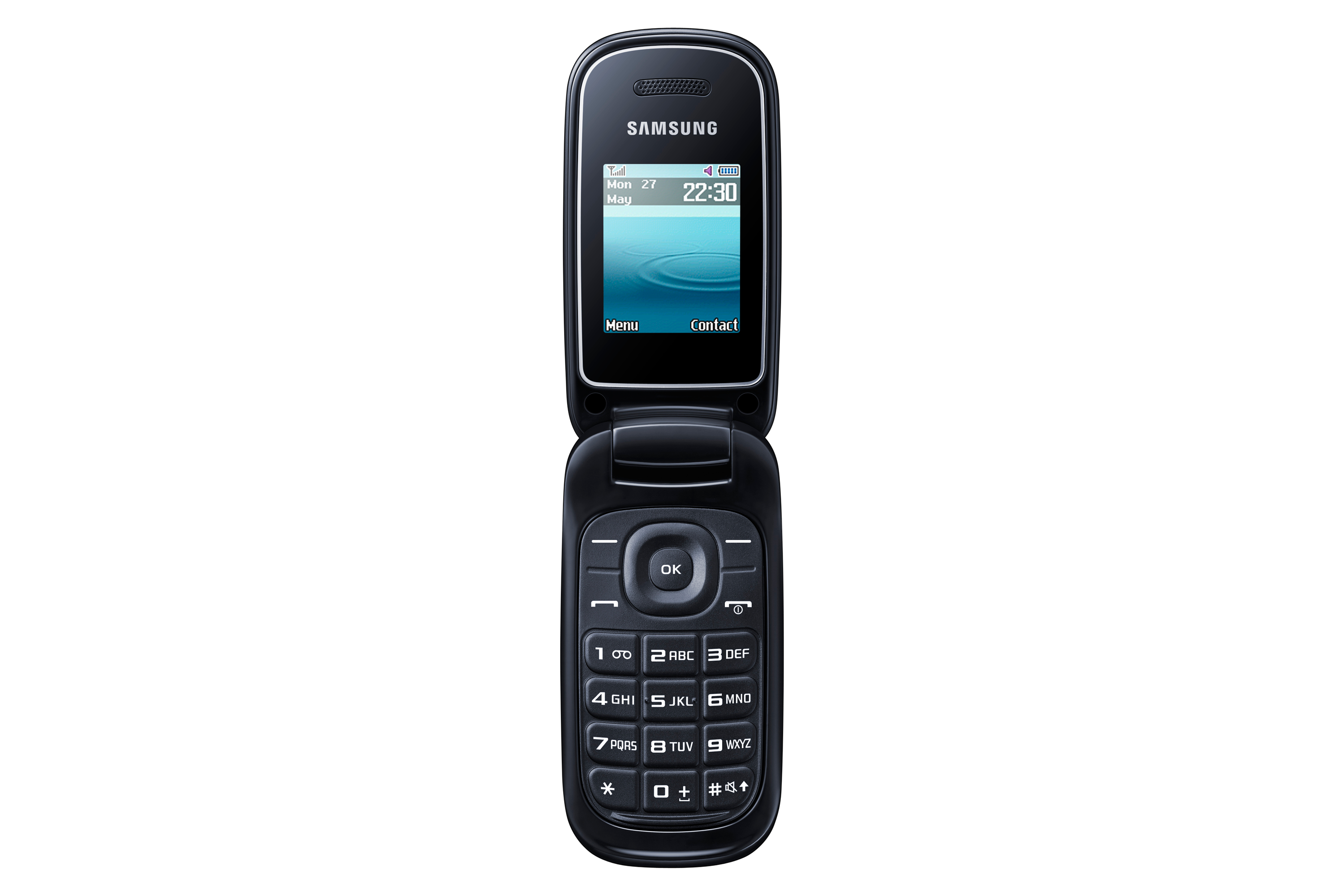 samsung e1270 black flip mobile phone locked to virgin. Black Bedroom Furniture Sets. Home Design Ideas
