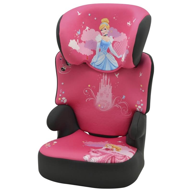 new disney princess befix high back booster car seat 4 11 years black pink ebay. Black Bedroom Furniture Sets. Home Design Ideas