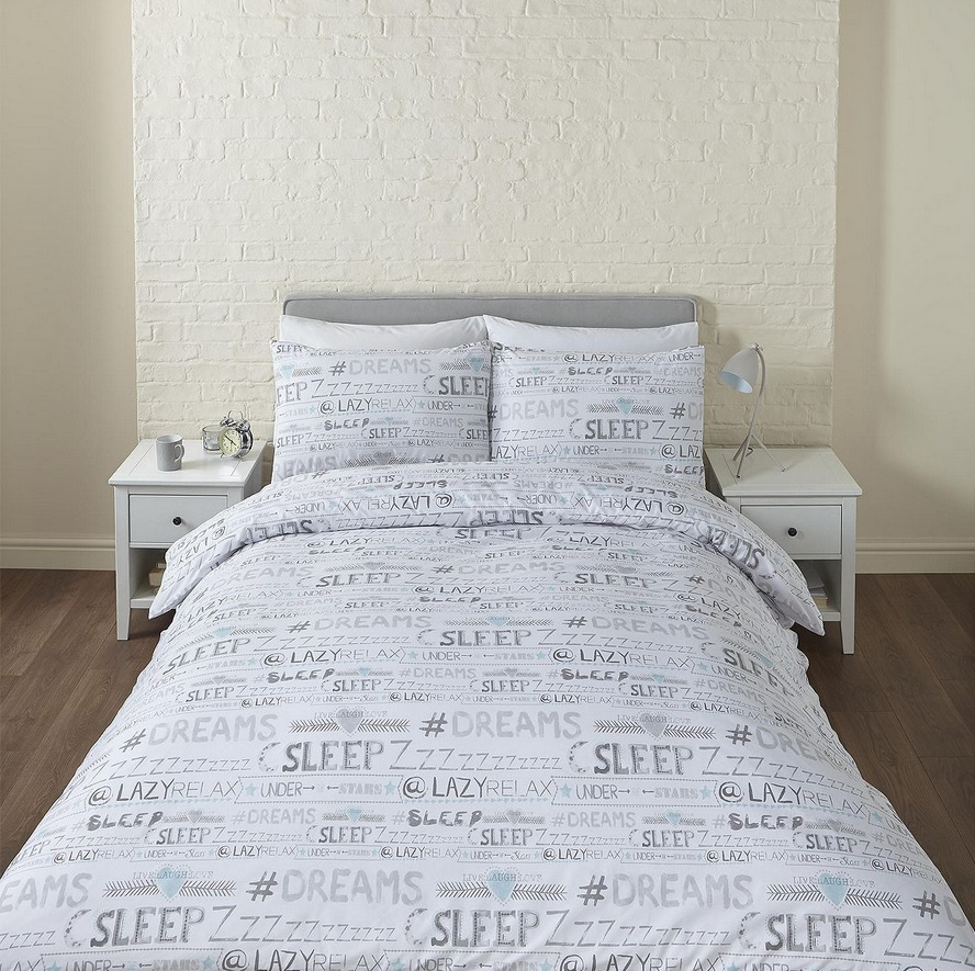 new tesco sleepy dreams single duvet cover pillow case. Black Bedroom Furniture Sets. Home Design Ideas