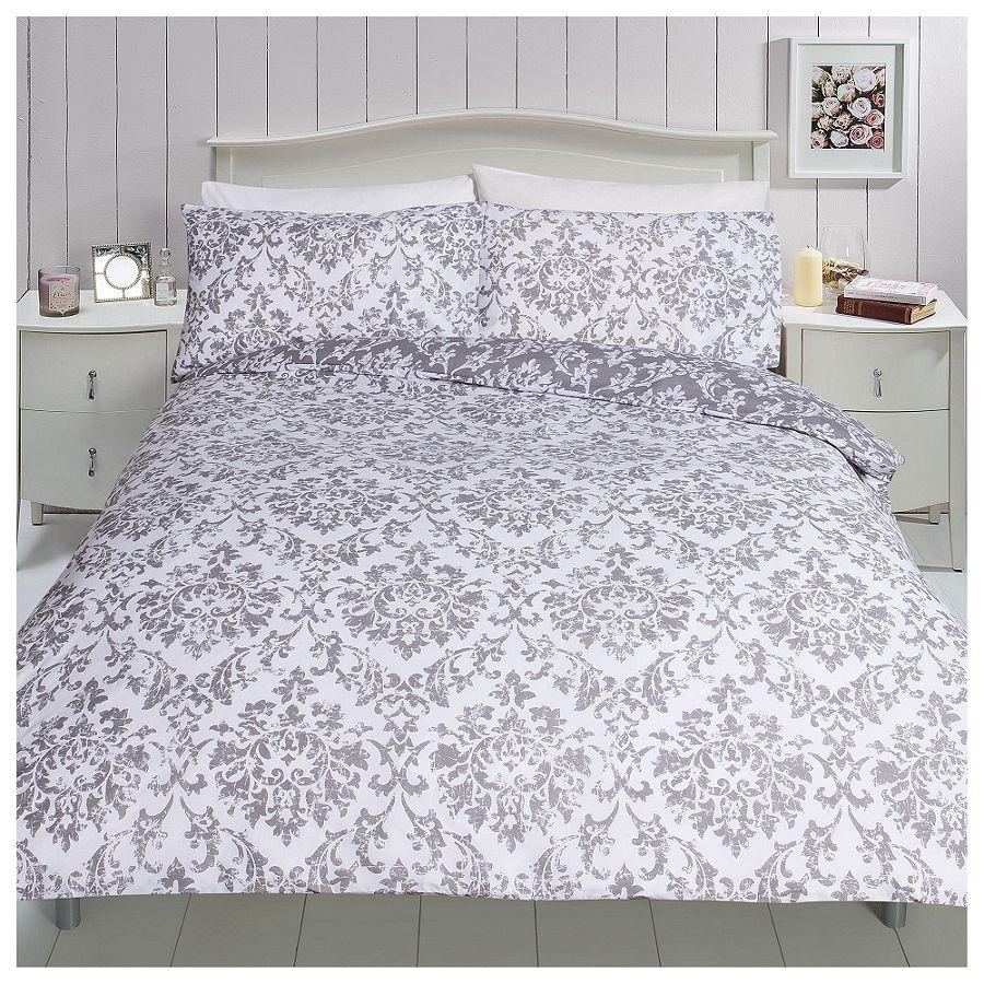 new tesco broken damask print single duvet set ebay. Black Bedroom Furniture Sets. Home Design Ideas