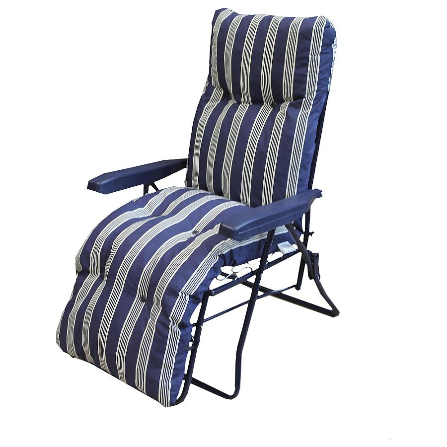 NEW Sun Lounger Folding Chair With Padded Relaxer Cushions