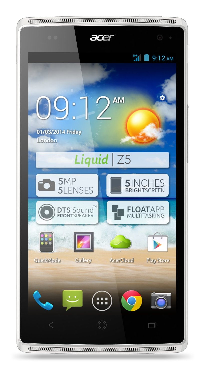 Acer Liquid Z5 Android Mobile Phone Touchscreen Smartphone Unlocked WHITE