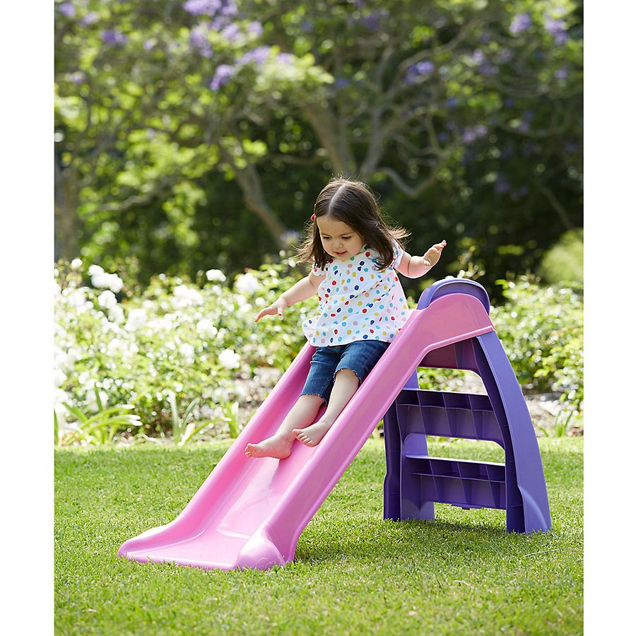 neu little tikes mein erstes rutsche innen drau en garten rosa violett ebay. Black Bedroom Furniture Sets. Home Design Ideas