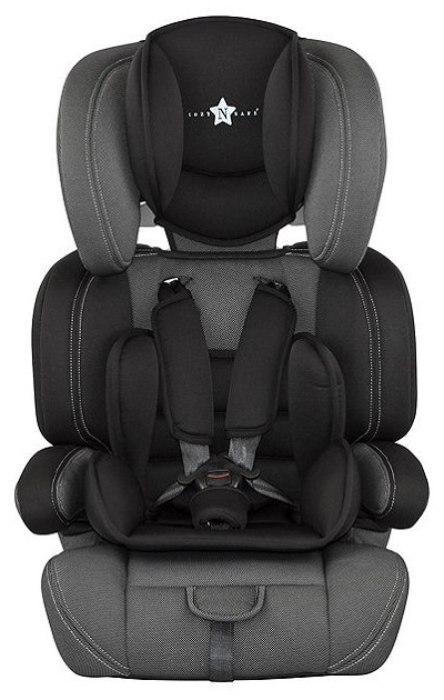 new cozy 39 n 39 safe logan high back booster car seat with harness black ebay. Black Bedroom Furniture Sets. Home Design Ideas