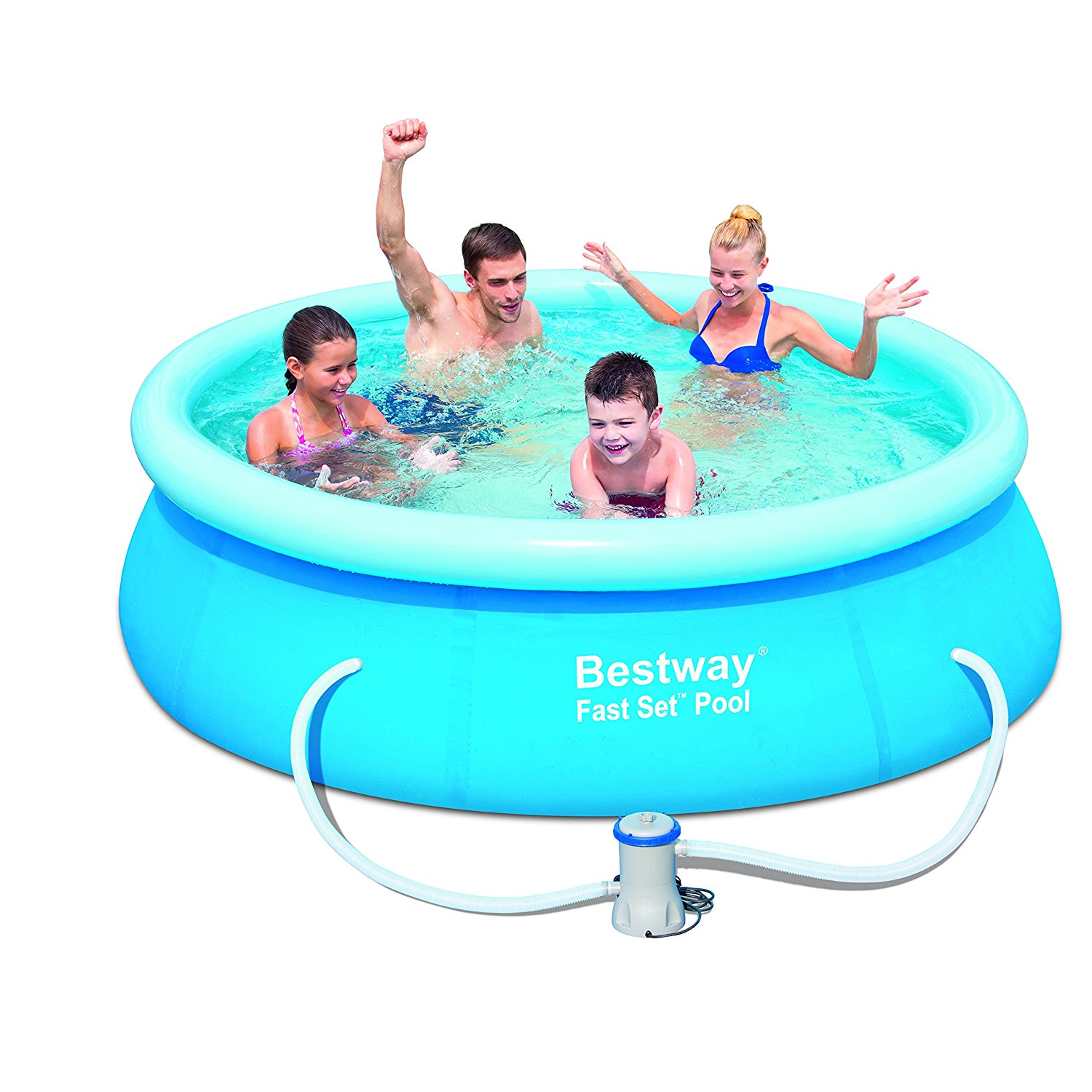 New bestway quick set up 10ft x 30 fast set pool with for Obi fast set pool
