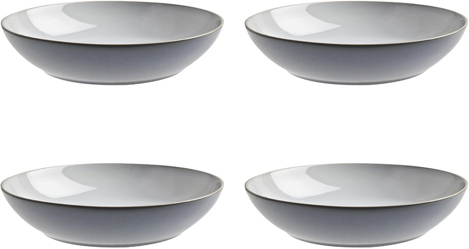 New Denby Everyday Stoneware 4 Piece Pasta Bowl Set Cool
