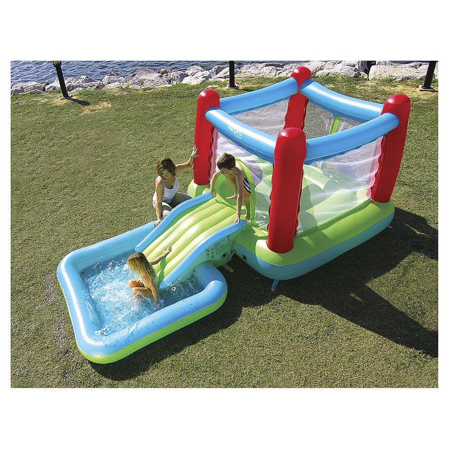 New Airpro Bouncy Castle With Slide Pool Swimming Pool For Kids Ebay