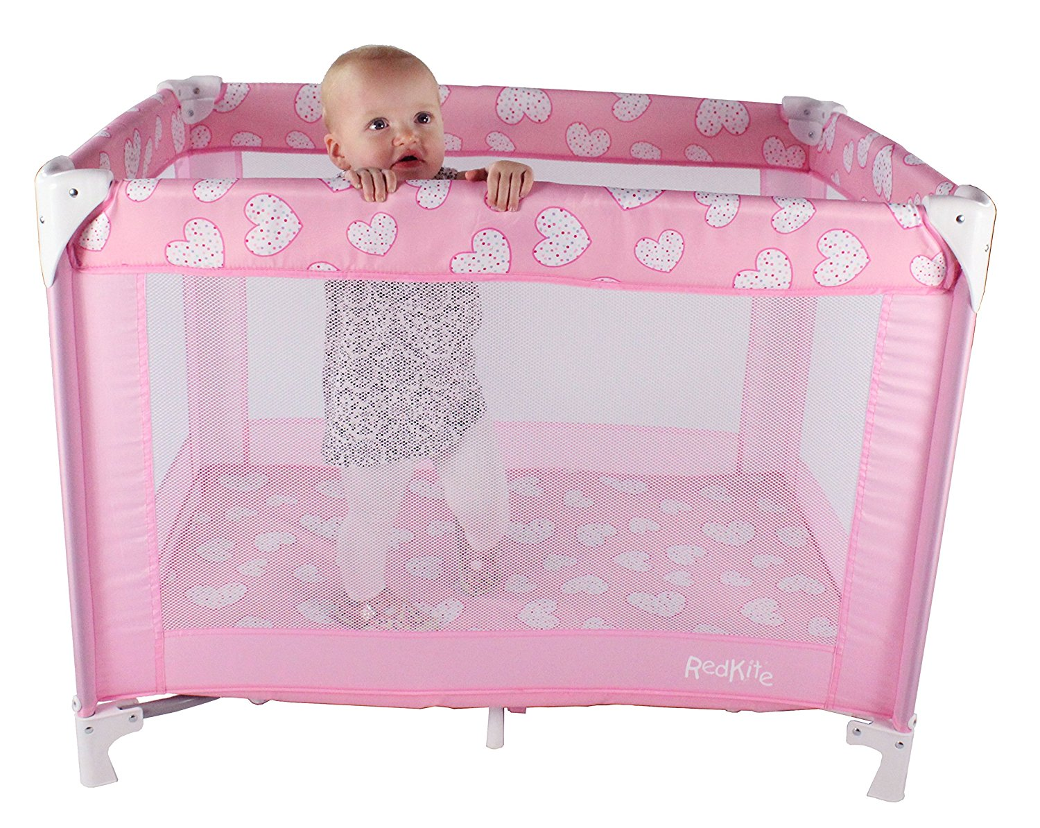 new red kite baby sleeptight folding travel cot pretty. Black Bedroom Furniture Sets. Home Design Ideas