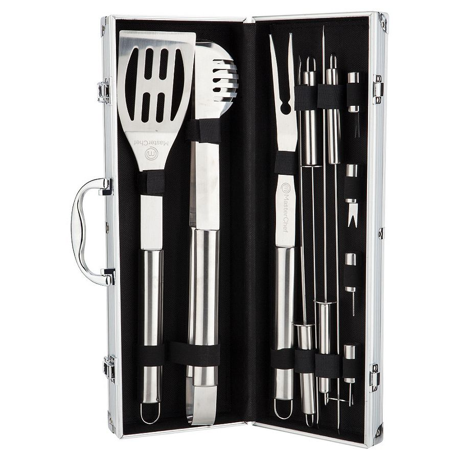 New masterchef stainless steel bbq grill tool set with