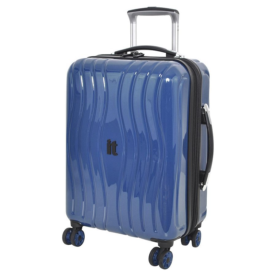 new it luggage gloss 8 wheel hard shell cabin case. Black Bedroom Furniture Sets. Home Design Ideas