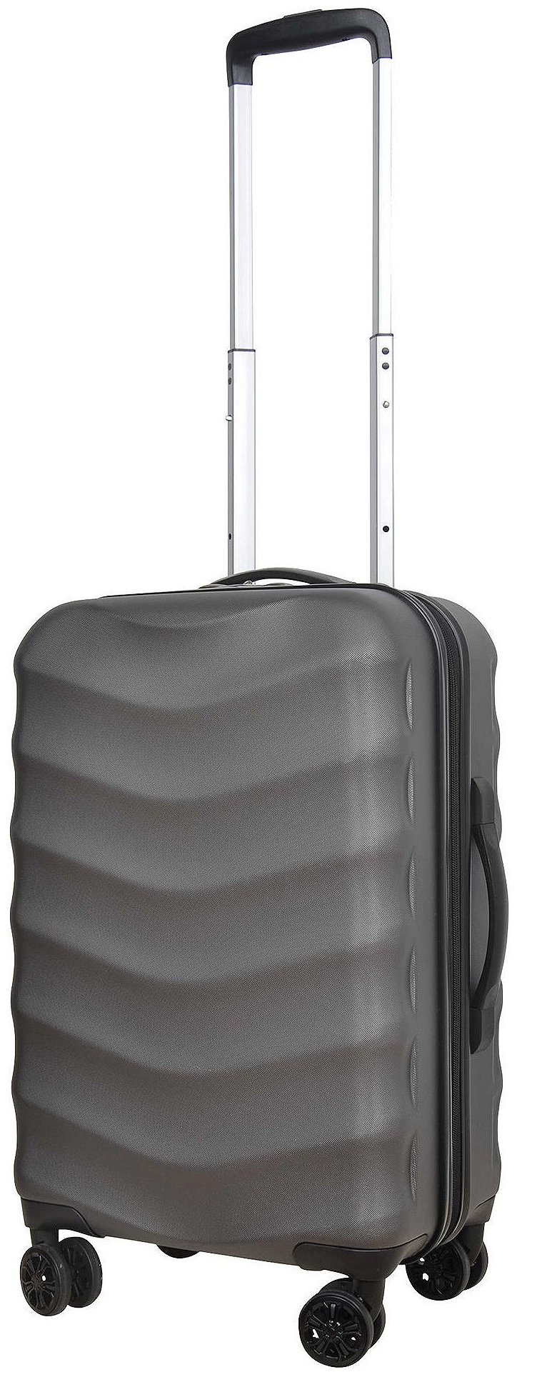 tesco champagne 8 wheeled hard shell small suitcase. Black Bedroom Furniture Sets. Home Design Ideas