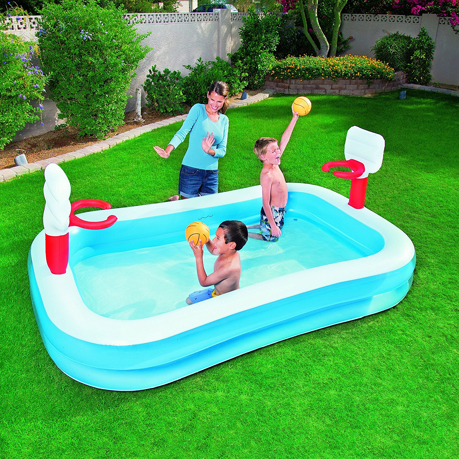 NEW Bestway Basketball Play Paddling Pool - Blue, Swimming ...
