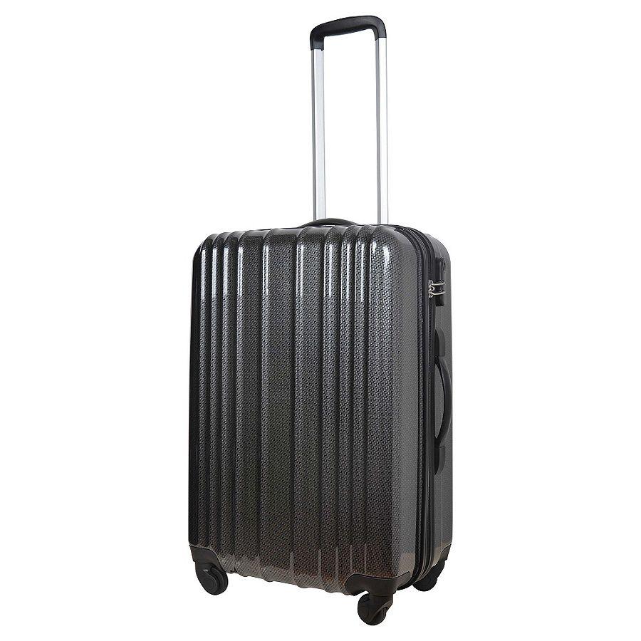new tesco tokyo 4 wheel hard shell medium suitcase grey. Black Bedroom Furniture Sets. Home Design Ideas