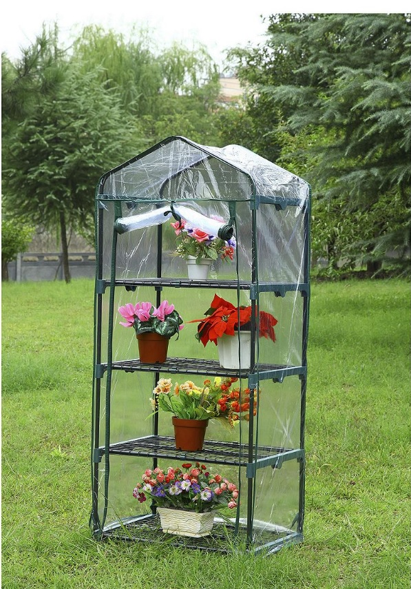 new tesco 4 tier tall grow house portable greenhouse. Black Bedroom Furniture Sets. Home Design Ideas