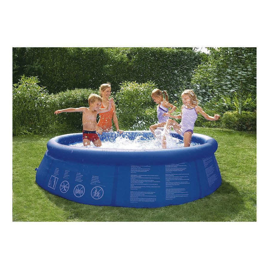 New tesco 8ft quick up family fun paddling pool h66 x dia for Family paddling pool