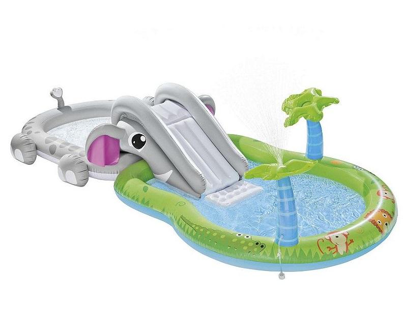 New tesco elephant kids water play centre paddling pool for Garden pool tesco