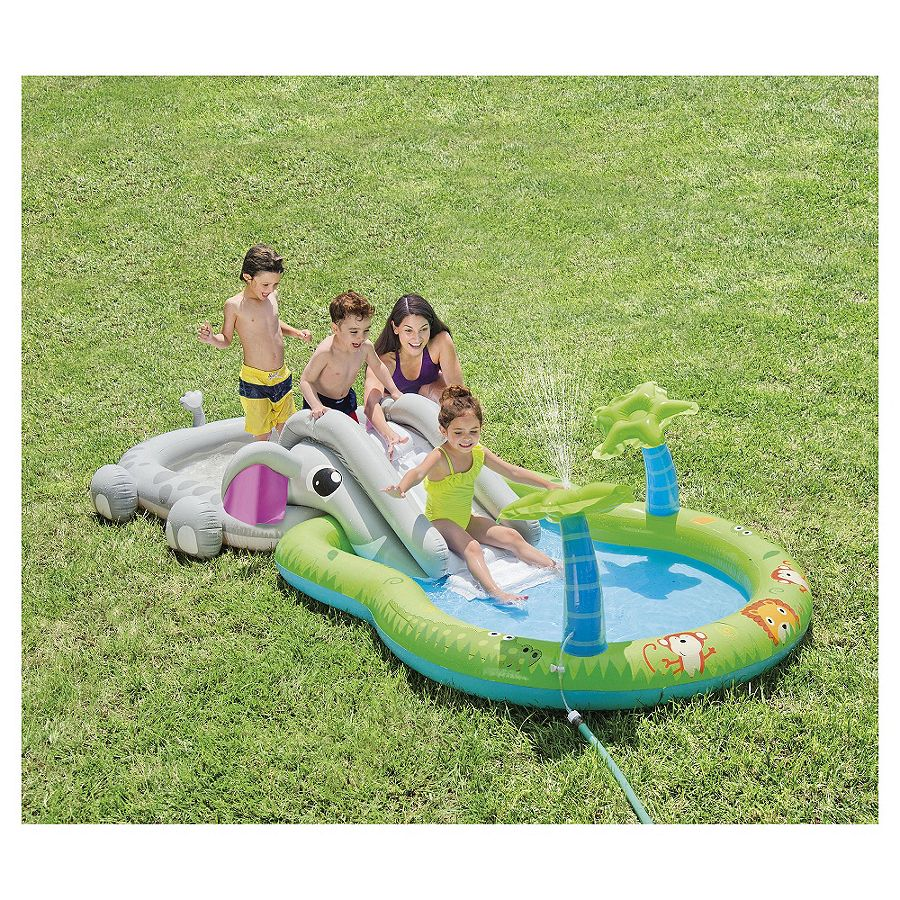 New tesco elephant kids water play centre paddling pool for Best children s paddling pool