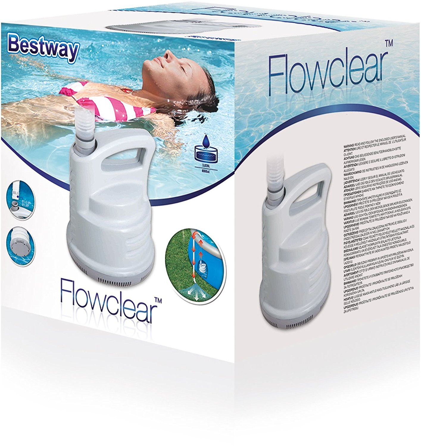 New Bestway Electric Swimming Pool Drain And Pump Long