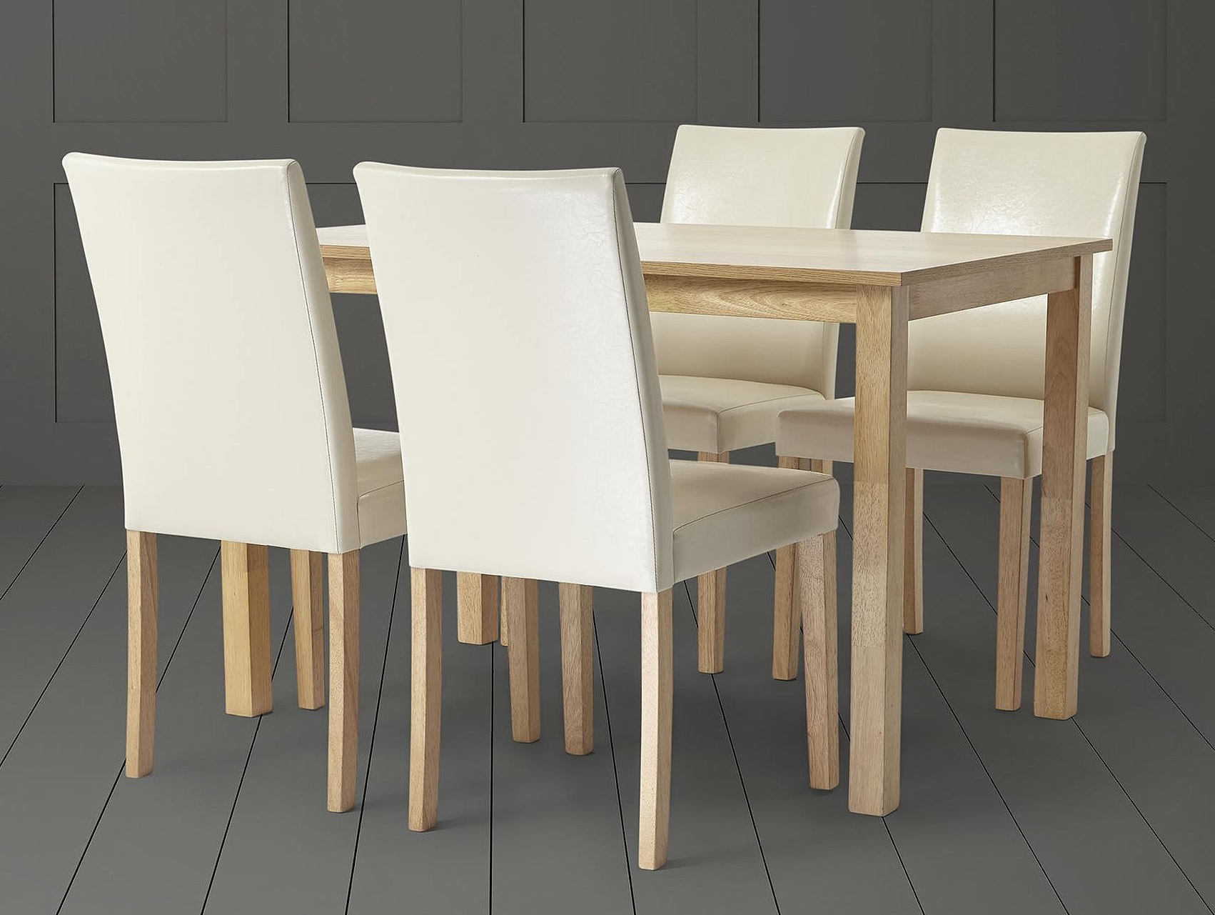 Tesco Claydon Oak Effect 4 Seat Dining Table Chair Set