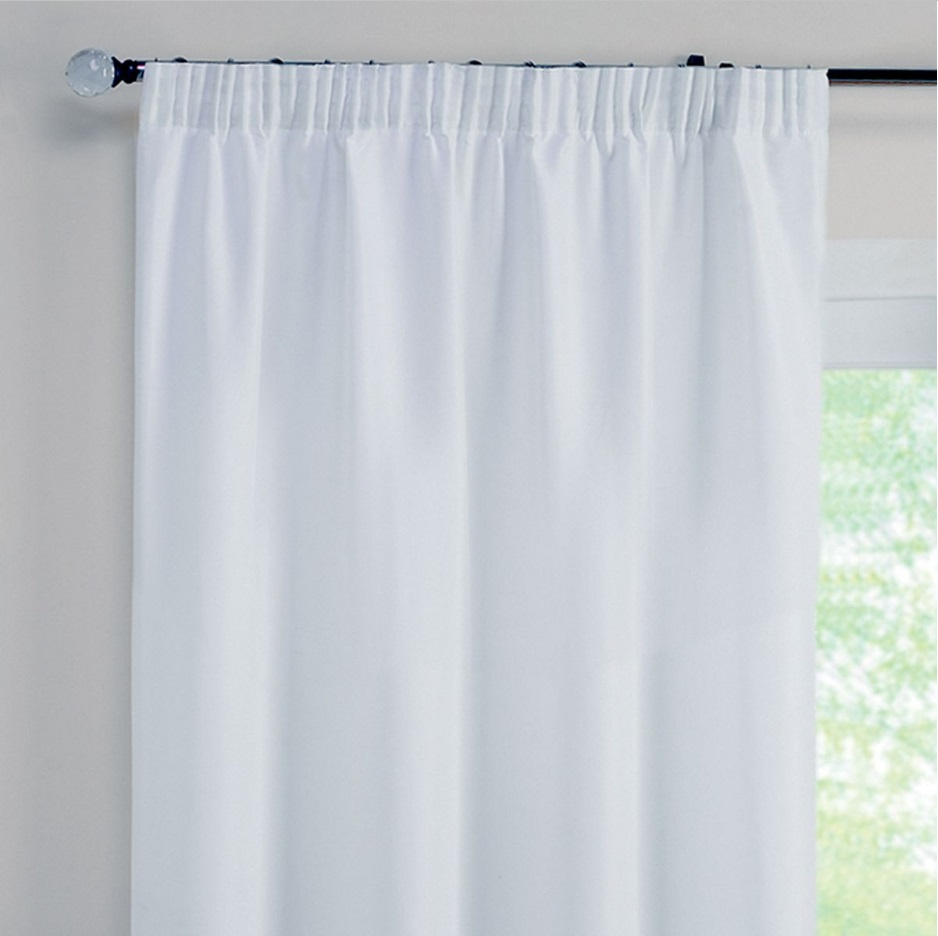 rectella blackout curtain lining 46x54 117x137cm white. Black Bedroom Furniture Sets. Home Design Ideas