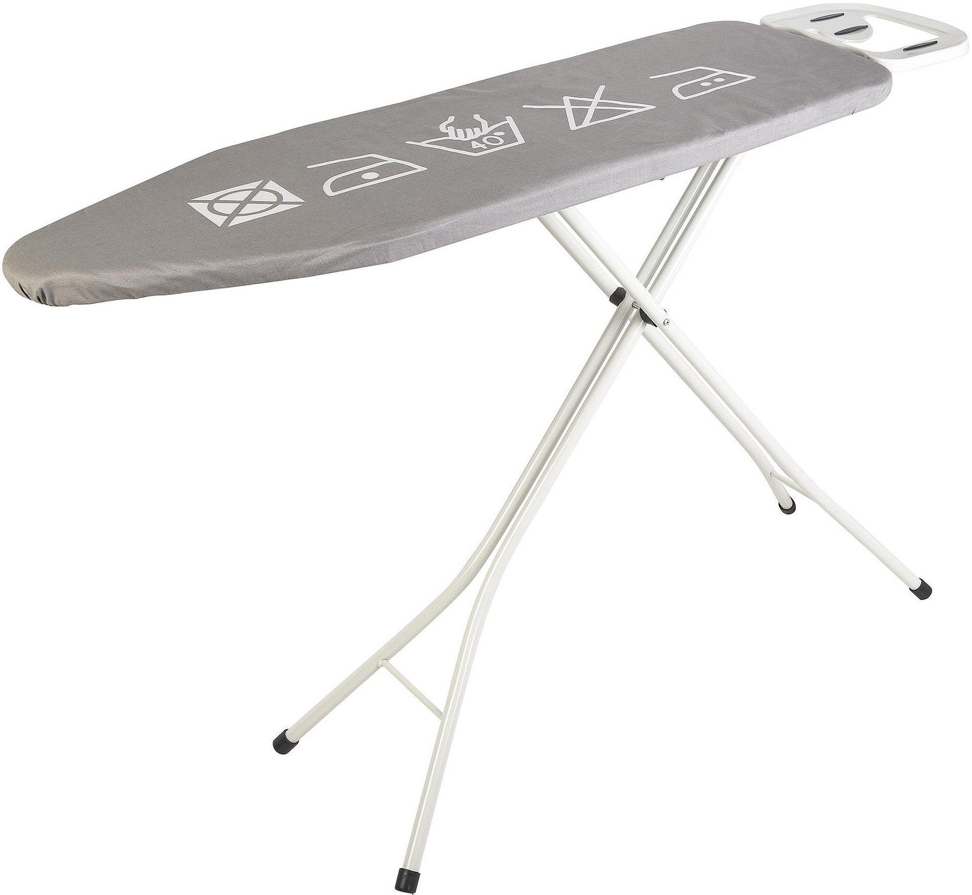 tesco height adjustable medium ironing board 114cm x 38cm. Black Bedroom Furniture Sets. Home Design Ideas