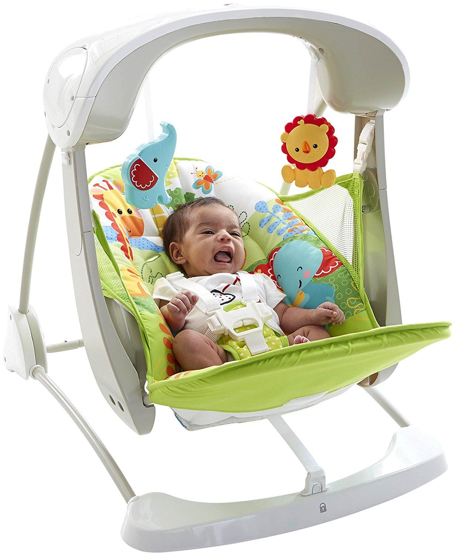 neu fisher price regenwald nehme mit baby schaukel. Black Bedroom Furniture Sets. Home Design Ideas