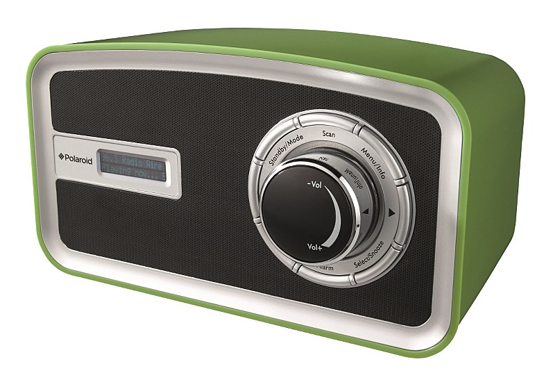 polaroid ds415g portable retro dab digital radio green ebay. Black Bedroom Furniture Sets. Home Design Ideas