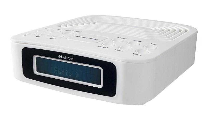 polaroid ds418 frontier digital dab radio alarm clock white ebay. Black Bedroom Furniture Sets. Home Design Ideas