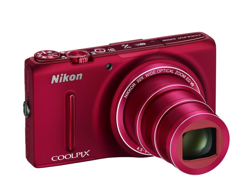 Nikon Coolpix S9500 Compact Digital Camera 18.1MP 22x Zoom WiFi - Red