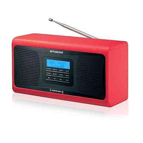 polaroid e80090r portable retro style dab digital radio red ebay. Black Bedroom Furniture Sets. Home Design Ideas