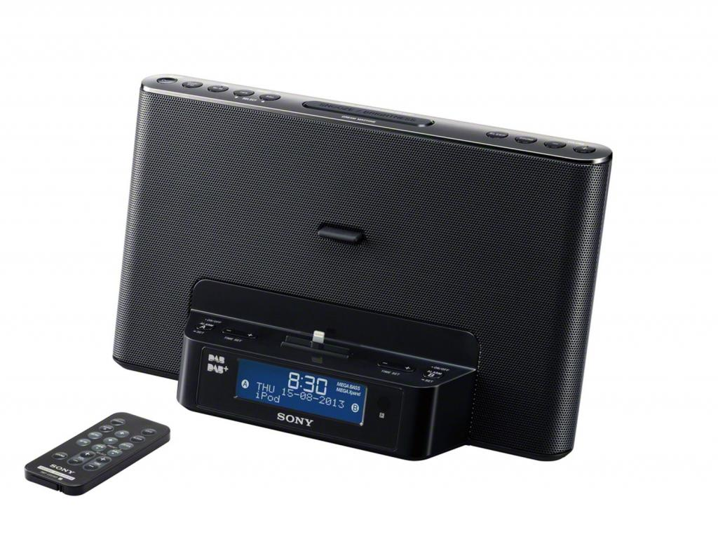 sony xdr ds16ipn dab dab fm clock radio with lightning dock black c ebay. Black Bedroom Furniture Sets. Home Design Ideas